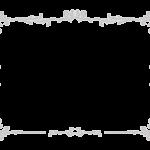 エレガントなシルバー風のフレーム・飾り枠のイラスト02