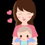 笑顔のママと赤ちゃんのイラスト