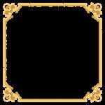 四角形のエレガントなデザインのフレーム・飾り枠のイラスト