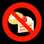 糖分の摂取禁止(控える)のイラスト