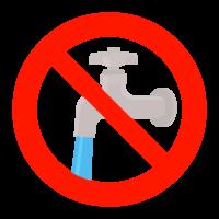 水の出しっぱなしを禁止のイラスト