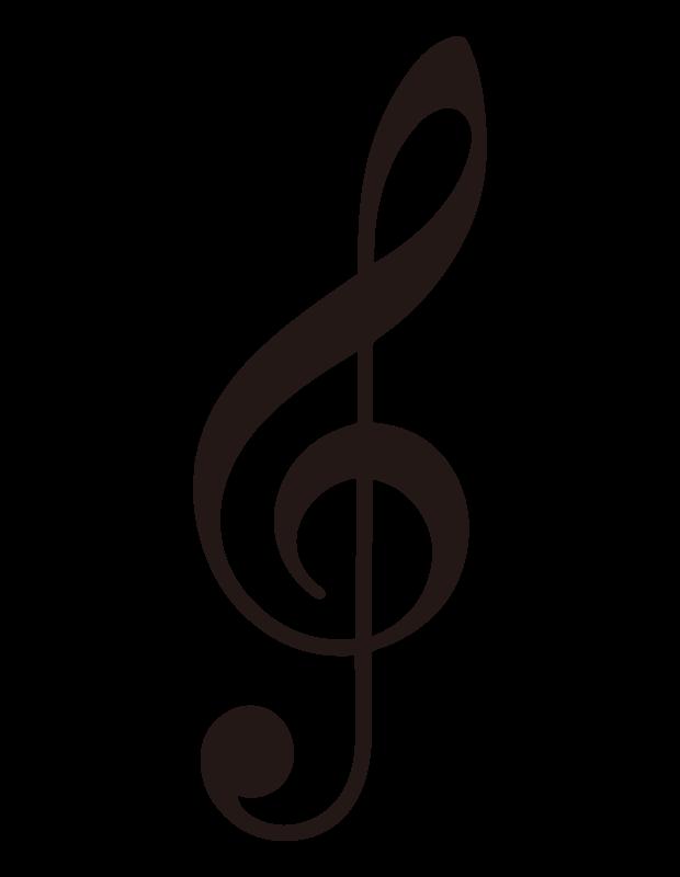 ト音記号のイラスト