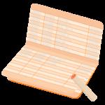 銀行の通帳とハンコ(印鑑)のイラスト