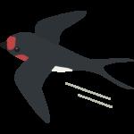 飛んでいるツバメのイラスト