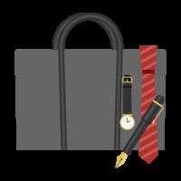 ビジネスバッグやネクタイのイラスト