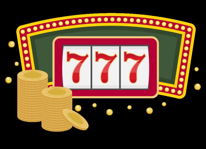カジノのフィーバーのイラスト