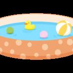 こども用の家庭用プールのイラスト