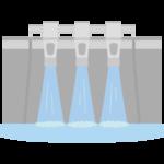 ダム(正面)のイラスト
