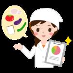 献立をアドバイスする栄養士さんのイラスト