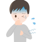 吐き気や腹痛のイラスト
