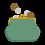 がま口財布とお金のイラスト