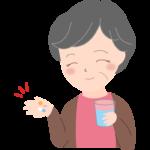 薬を飲むおばあちゃんのイラスト