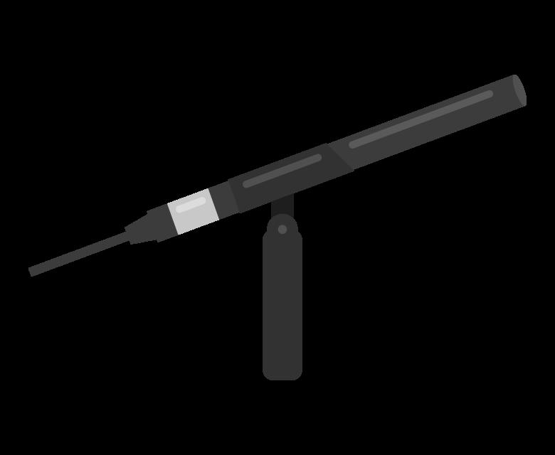 ガンマイクのイラスト02