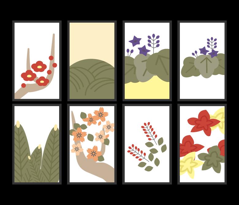 花札のイラスト