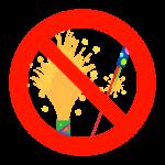花火禁止のイラスト