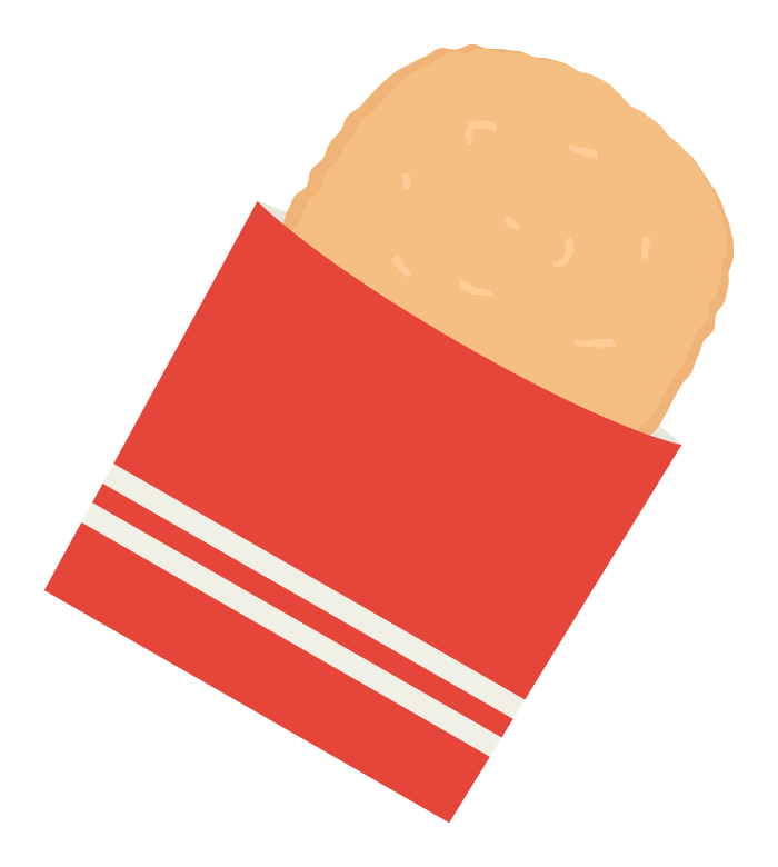 ハッシュドポテトのイラスト