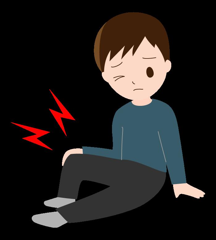 膝や関節の痛み(若い男性)のイラスト