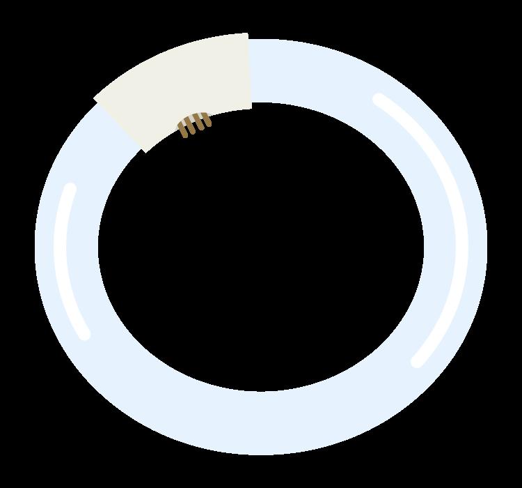 丸型の蛍光灯のイラスト