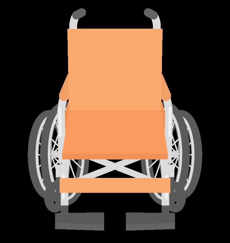 車椅子(正面)のイラスト