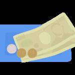 キャッシュトレイとお金のイラスト