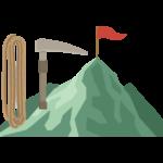 登山のイラスト