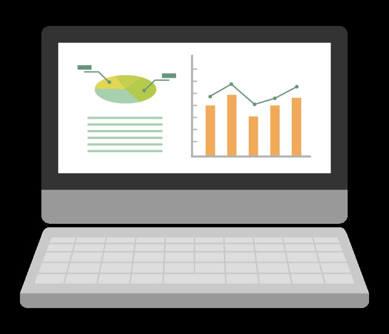 グラフデータ・資料のイラスト