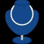 真珠のネックレスとトルソーのイラスト
