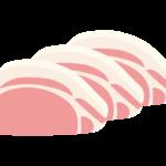 スライスした豚ロースのイラスト