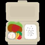 パルプモールドのお弁当のイラスト
