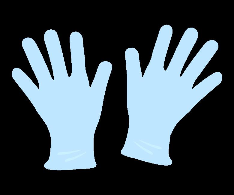ビニール手袋のイラスト