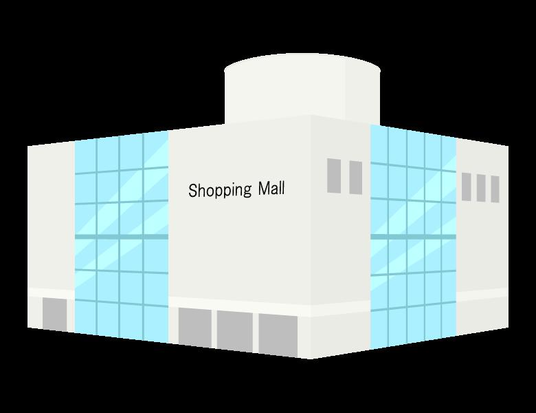 商業施設・ショッピングモールのイラスト