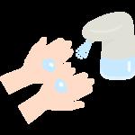 液体消毒ディスペンサーのイラスト