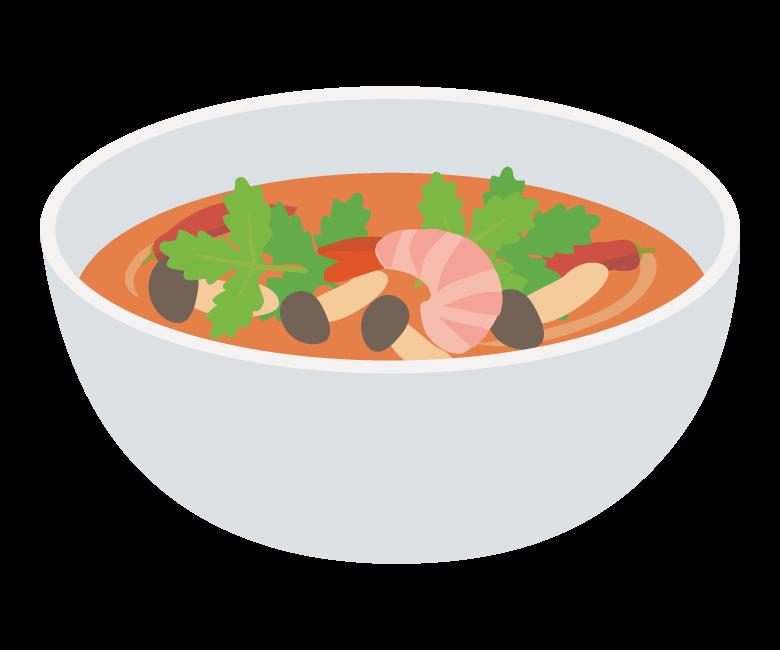 タイ料理・トムヤムクンのイラスト