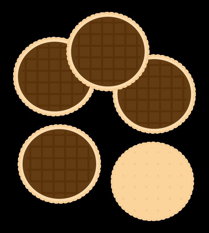 チョコビスケットのイラスト