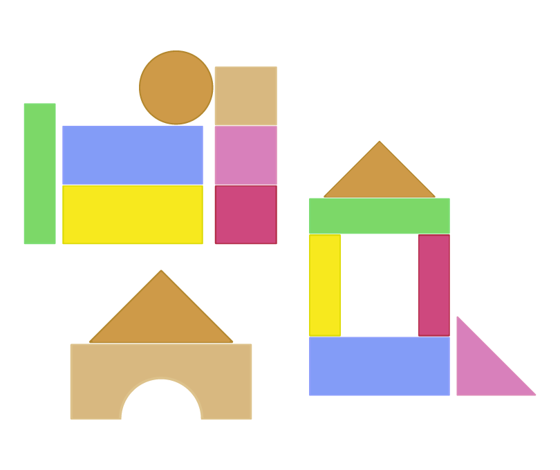 積み木のイラスト