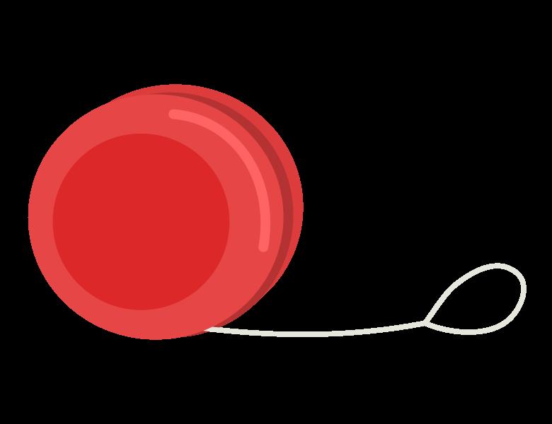 赤いヨーヨーのイラスト
