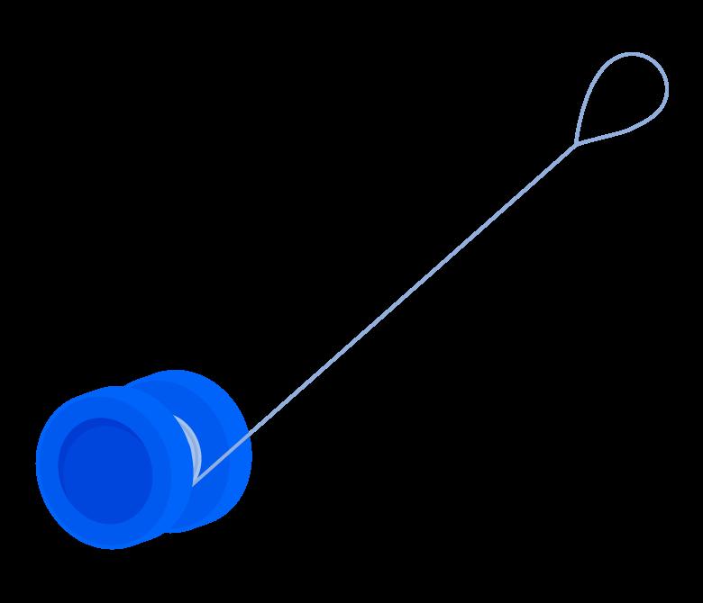 青いヨーヨーのイラスト