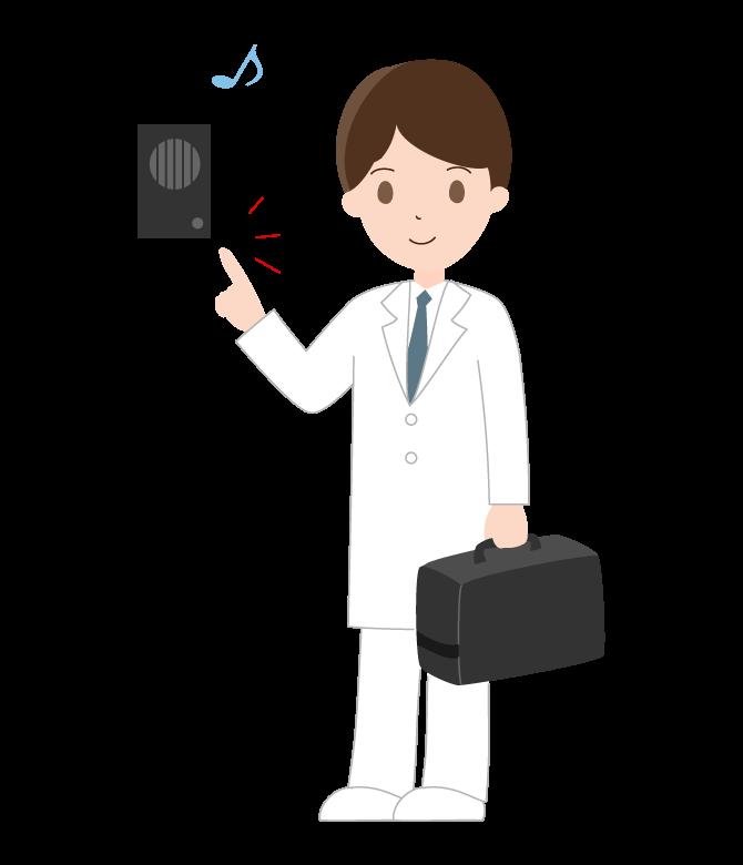 訪問診療のイラスト