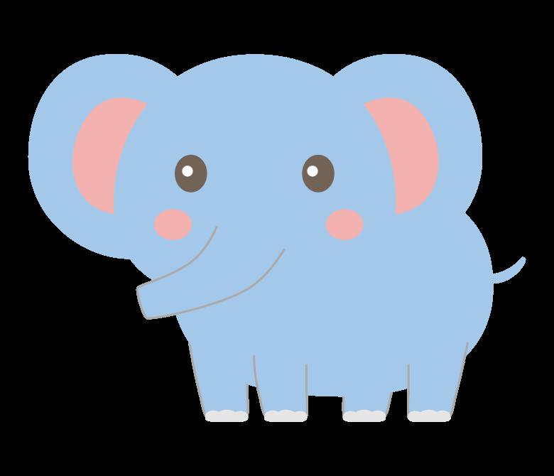 かわいい象のイラスト02