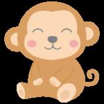 笑顔でかわいいお猿さんのイラスト