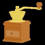 コーヒーミルのイラスト