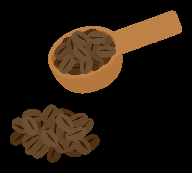 コーヒー豆のイラスト