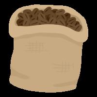 袋に入ったコーヒー豆のイラスト