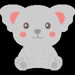 かわいい笑顔のコアラのイラスト