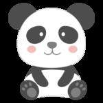かわいい笑顔のパンダのイラスト