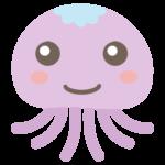かわいいクラゲのイラスト