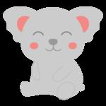 ニッコリ笑顔のコアラのイラスト