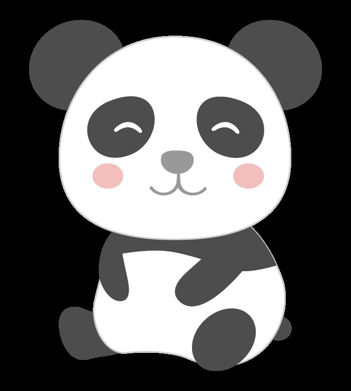 笑顔のパンダのイラスト