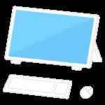 一体型パソコンのイラスト