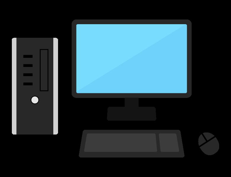 デスクトップPCのイラスト